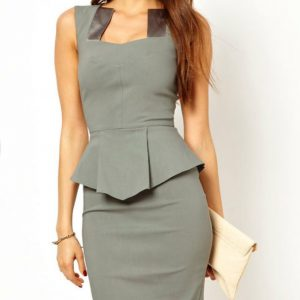 Bodycon Women Falbala Sexy Working Dress