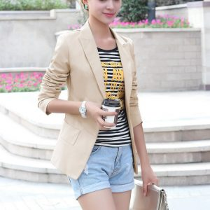 Blazer Single Button khaki